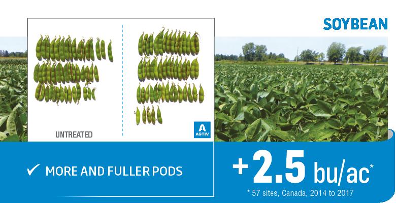 Yield increase on soybean