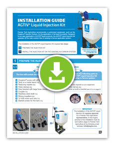INSTALLATION GUIDE - AGTIV Liquid Injection Kit