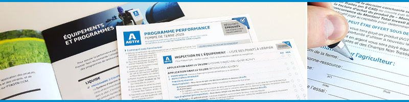 Programmes de ventes et d'équipements AGTIV